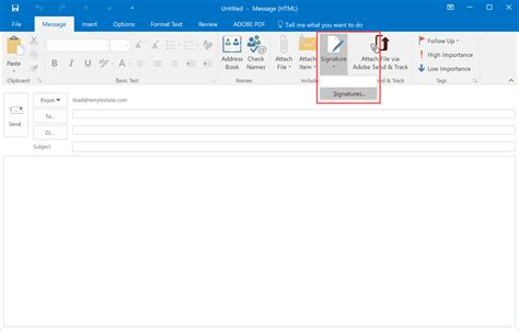 How To Insert Signature In Outlook