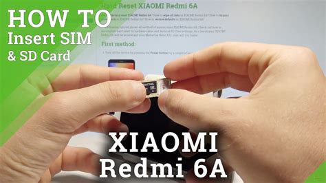 How To Insert Sim In Redmi 6a