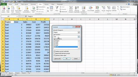 How To Insert Subtotals In Excel