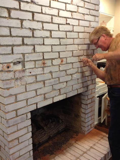 How To Install A Floating Mantel On Brick Fireplace