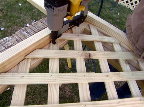 How To Install A Lattice Wall