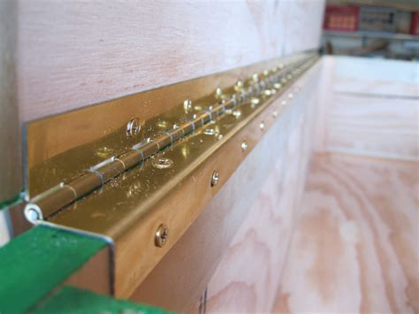 How To Install A Piano Hinge On 3 4 Plywood