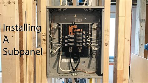 How To Install A Subpanel Youtube Music