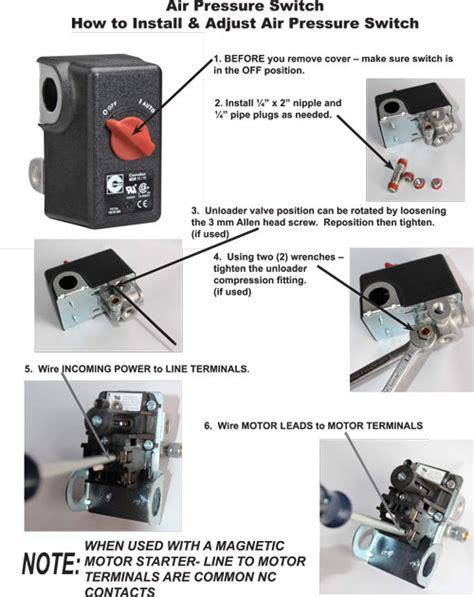 How To Install Air Compressor Pressure Switch