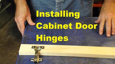 How To Install Cabinet Door Hinges Youtube