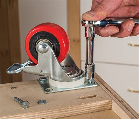 How To Install Casters On Wood