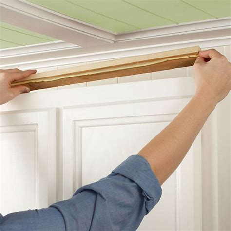 How To Install Crown Molding On Kitchen Cab