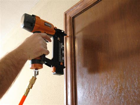 How To Install Door Trim With Nail Gun