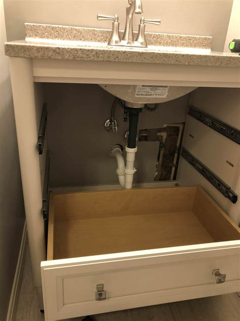 How To Install Drawers In Bathroom Vanity