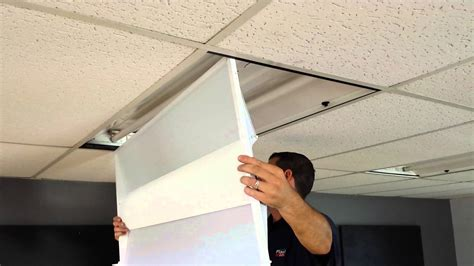 How To Install Fluorescent Light Fixtures In Drop Ceiling