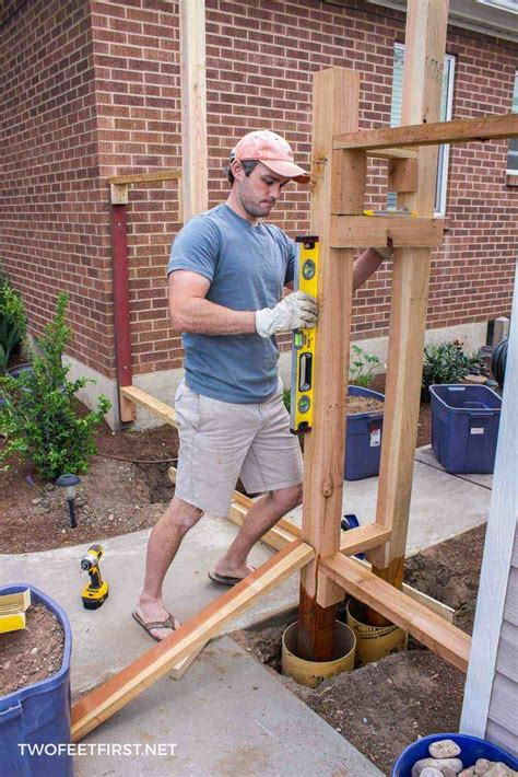 How To Install Gate Posts Wooden Crates