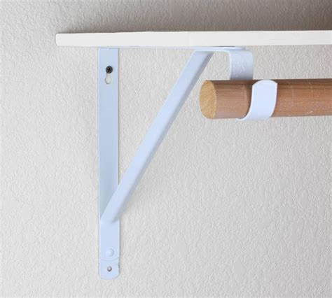 How To Install Hangers In Brackets On Diy Wood Shelves