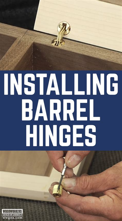 How To Install Hidden Barrel Hinges