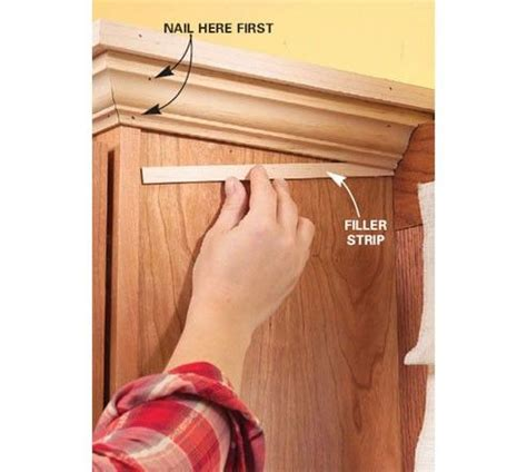 How To Install Kitchen Wall Cabinets With Crown Molding