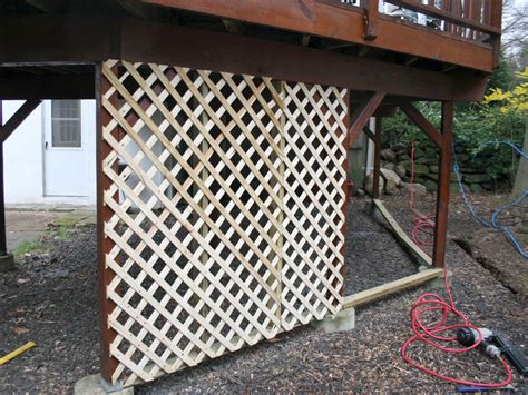 How To Install Lattice Under A Deck Video