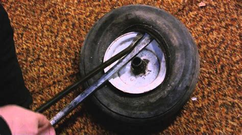 How To Install New Tires On Lawn Mower Rim