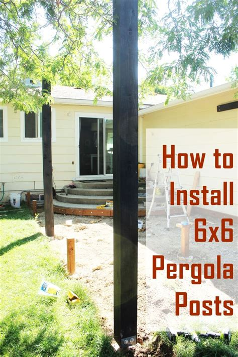 How To Install Pergola Posts