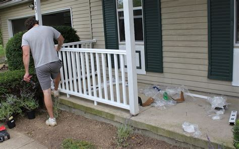 How To Install Porch Railing On Concrete