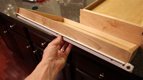 How To Install Sliding Drawers In Kitchen Cabinets