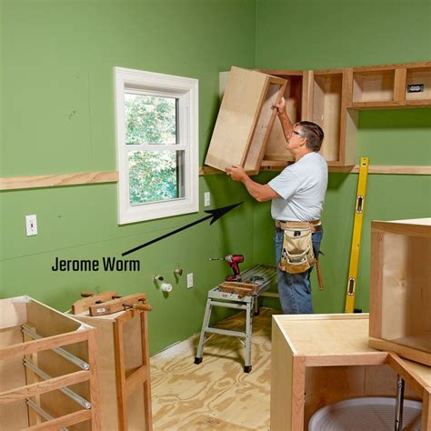 How To Install Upper Cabinets Away From Wall