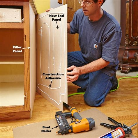 How To Install Wood Veneers On End Cabinets