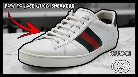How To Lace Gucci Ace Sneakers