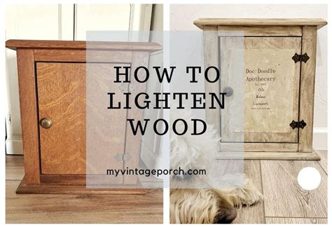 How To Lighten Dark Oak Wood