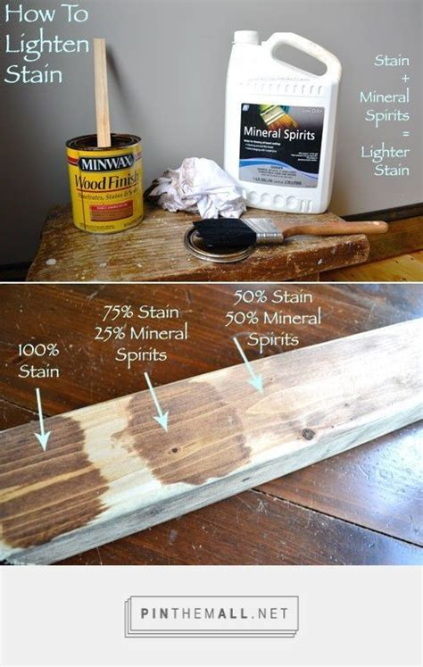 How To Lighten Stain After Applied