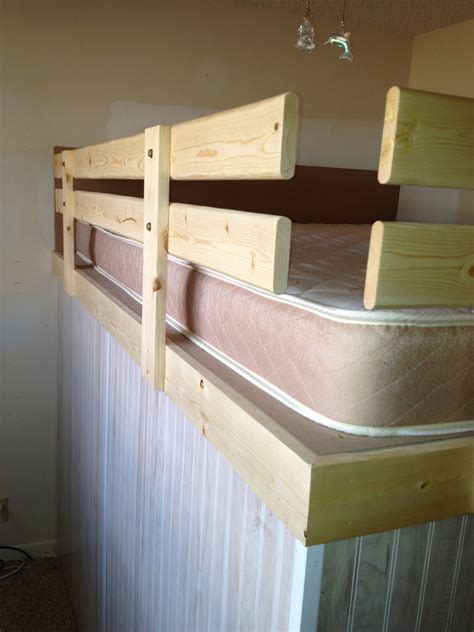 How To Loft A Bed Diy Rail
