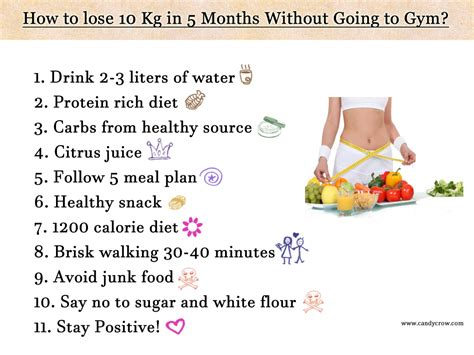 How To Lose 10 Kilos In A Month Diet