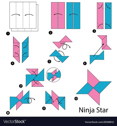 How To Make A 4 Pointed Ninja Star Step By Step