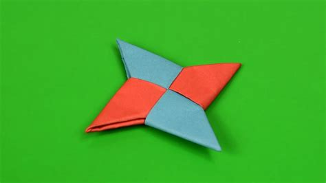 How To Make A 4 Pointed Star With Paper