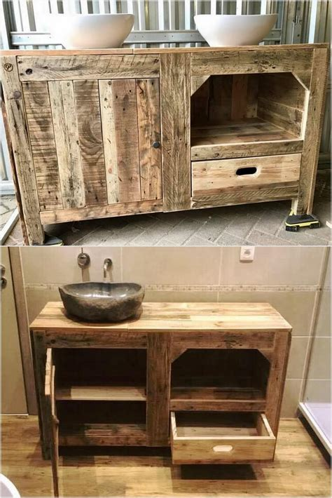 How To Make A Bathroom Cabinet Out Of Pallets