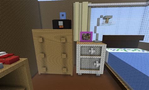 How To Make A Bedside Table Minecraft