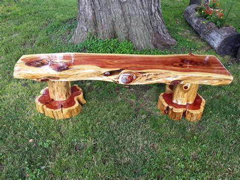 How To Make A Bench Out Of Cedar Log