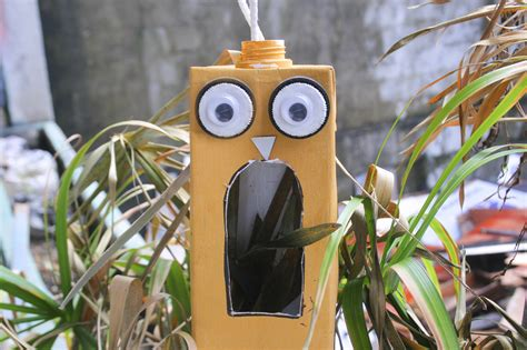 How To Make A Birdhouse From Milk Carton