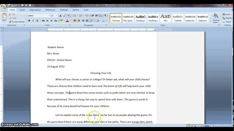 How To Make A Blank Document Into Mla Format