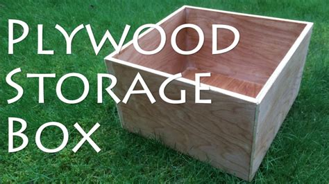 How To Make A Box Out Of Thin Plywood Sheets