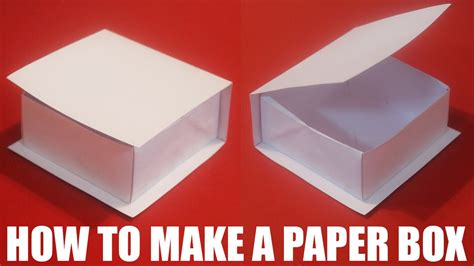 How To Make A Box Top Out Of Paper