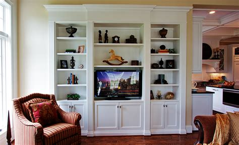 How To Make A Built In Bookcase With Flat Tv