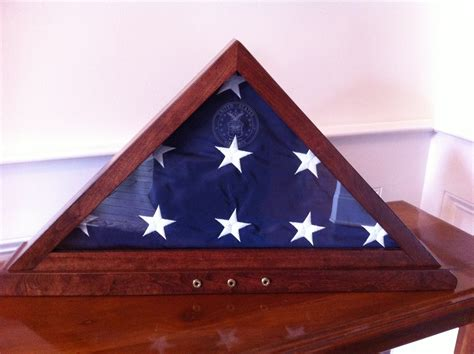 How To Make A Burial Flag Display Case