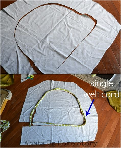 How To Make A Chair Cushion With Piping