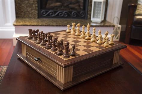 How To Make A Chess Board With Storage Drawers