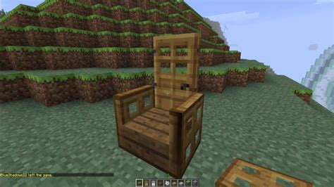 How To Make A Comfy Chair In Minecraft
