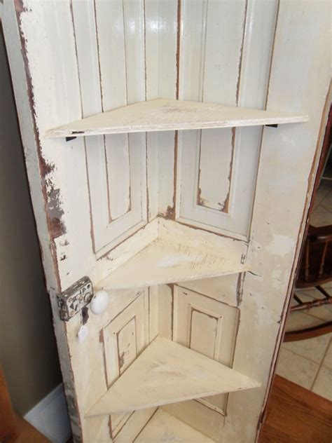 How To Make A Corner Cabinet Out Of An Old Door