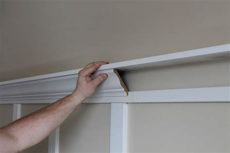 How To Make A Crown Molding Ledge Wall