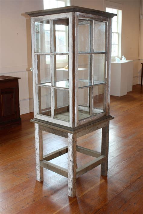 How To Make A Curio Cabinet Out Of Old Windows