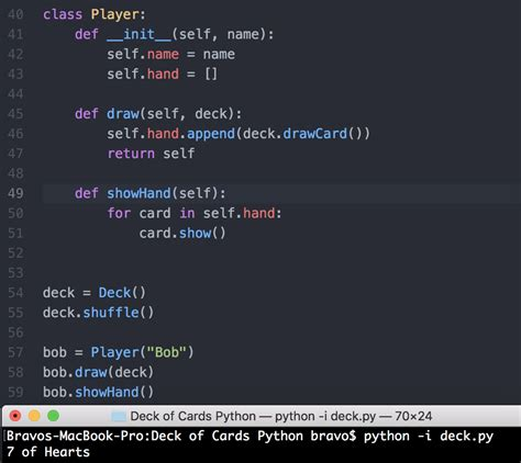 How To Make A Deck Of Cards Python
