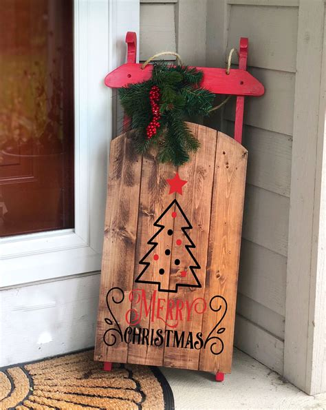 How To Make A Decorative Sled For Christmas