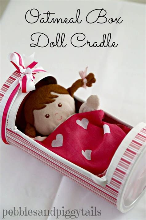 How To Make A Doll Cradle Out Of An Oatmeal Box